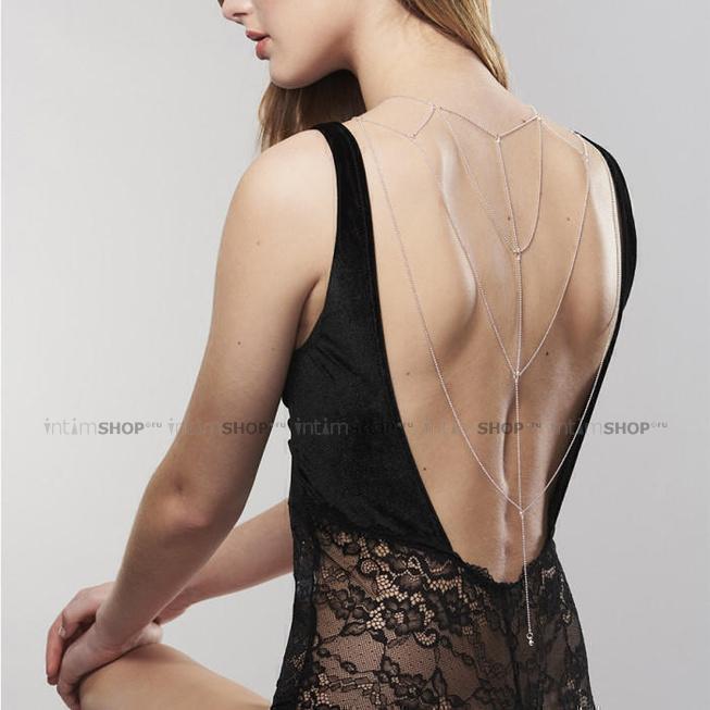 Бикини-цепочка Bijoux Magnifique Back and Cleavage Chain, серебристый