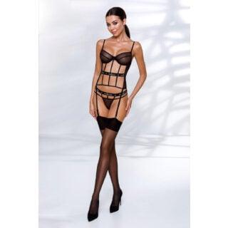 Корсеты Passion Lingerie Kyouka corset Black, Чёрный, L/XL