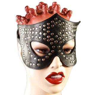 Очки-маска с заклёпками Подиум, черный