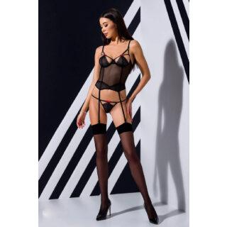 Корсеты Passion Lingerie Perita corset, Чёрный, L/XL
