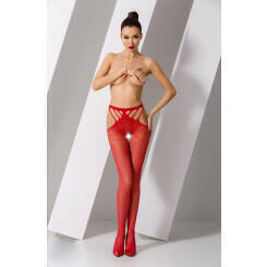 Колготки Passion Erotic Line S 001 Red, Красный, One size