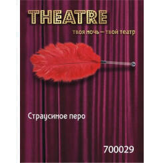 Страусиное перо Toyfa Theatre, красный