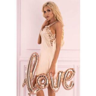 Сорочка LivCo Corsetti Fashion LC 90581 Ziveron koszula Light Pink, Розовый, L/XL