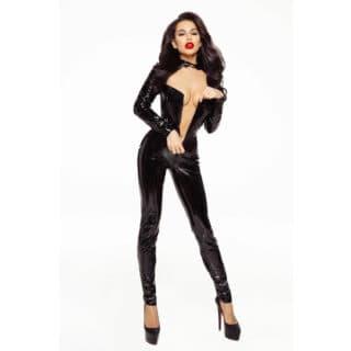 Ролевые костюмы Devil & Angel 7070 Комбинезон лакированный, Чёрный, L