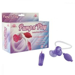 Помпа с вибрацией Aphrodisia Pump n's play Suction Mouth, фиолетовый