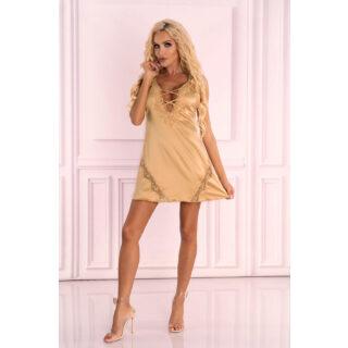 Сорочка LivCo Corsetti Fashion LC 90580 Landim koszula Gold, Золотистый, S/M