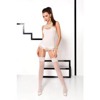 Корсеты Passion Lingerie Mia corset, Бежевый, S/M