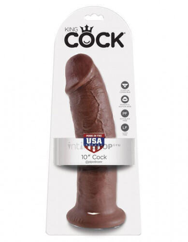 Фаллоимитатор на присоске King Cock 10 Cock Brown