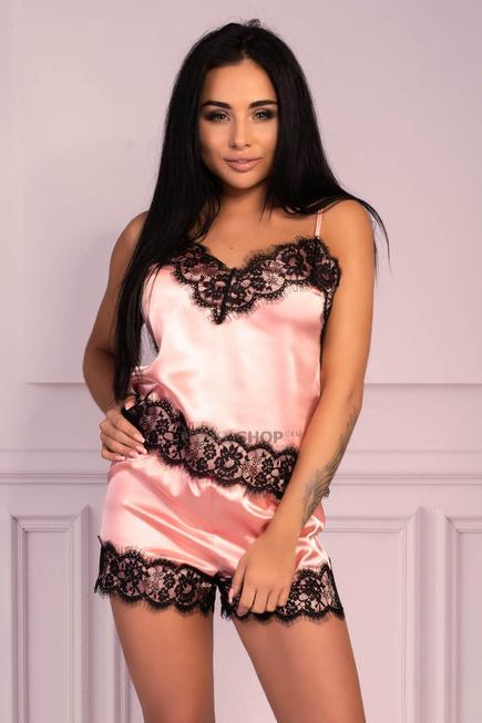 Пижама LivCo Corsetti Fashion LC 90556 Serranin komplet Розовый S/M