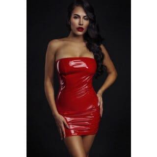 Ролевые костюмы Devil & Angel 7077 Платье лакированное, Красный, XS/S
