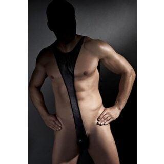 Мужское боди Anais Derrick body, Чёрный, XL