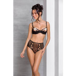 Комплекты Passion Lingerie Lovelia bikini Black, Чёрный, S/M