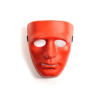 Маска (пластик) красного цвета на всё лицо SITABELLA