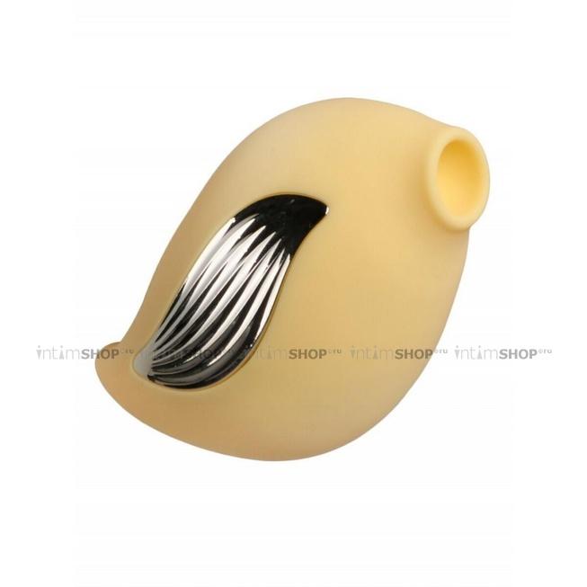 Вакуумный стимулятор с вибрацией Джага-Джага, желтый