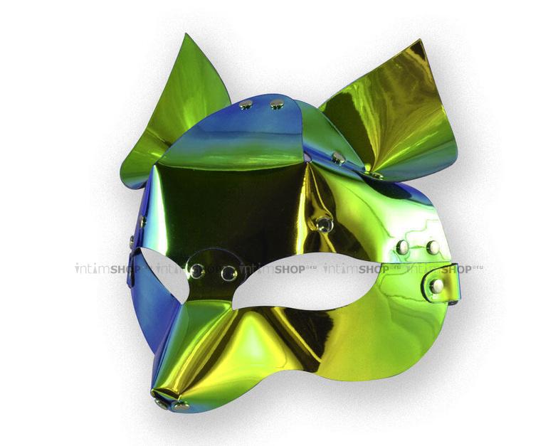 Маска Sitabella Лиса голографическая зеленый