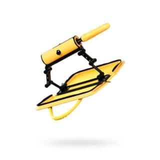 Секс-машина с пультом ДУ Toyfa MotorLovers F*ckBag, желтый