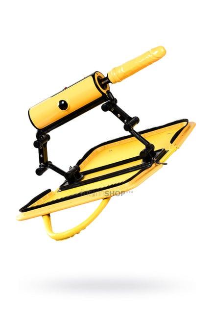 Секс-машина с пультом ДУ Toyfa MotorLovers F*ckBag желтый