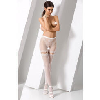 Чулки Passion Erotic Line S 015 белый, One size