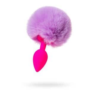 Анальная пробка с хвостом Toyfa ToDo Sweet bunny, розово-фиолетовый