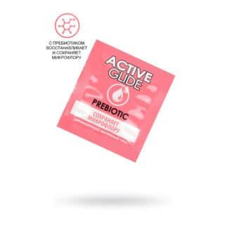 Увлажняющий интимный гель Active Glide Prebiotic, саше 3 мл