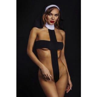 Ролевые костюмы Devil & Angel 7081 Костюм монашки, Чёрный, L