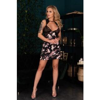 Сорочка LivCo Corsetti Fashion LC 90595 Lanokinal koszula, Чёрный, L/XL