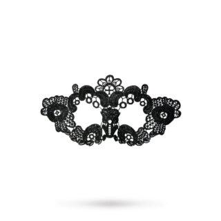 Маска нитяная Toyfa Theatre «Цветы», текстиль, черная