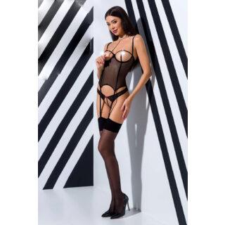 Корсеты Passion Lingerie Heidi corset, Чёрный, L/XL