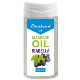 Массажное масло Isabella, с ароматом винограда «Изабелла», 30 мл, Eroticon