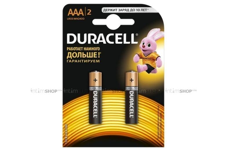 Батарейки мизинчиковые Duracell ААА/LR03 в блистере 2 шт.