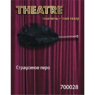 Страусиное перо Toyfa Theatre, черный