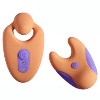 Вибратор в трусики с пультом ДУ Unbound Divvy, оранжевый/фиолетовый