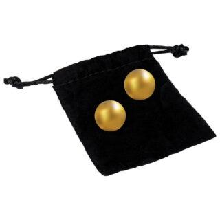 Шарики для упражнений Кегеля с золотым покрытием 24К CG Pleasure Balls