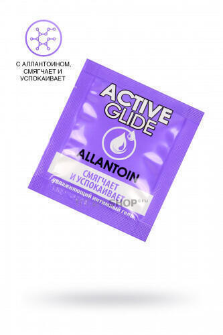 Увлажняющий интимный гель Active Glide Allantoin, саше 3 мл