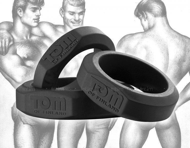 Эрекционные Кольца Tom of Finland из силикона черный