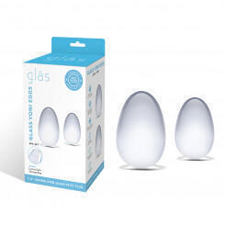 Сет из 2 стеклянных яиц для Йони техники Glas, бесцветный