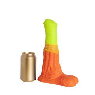 Фаллоимитатор EraSexa Пегас L+, 26.5 см, жёлто-оранжевый