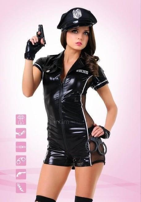 Костюм Le Frivole Эротический полицейский черный L/XL