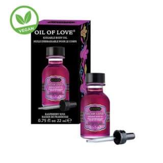 Возбуждающее масло-гель KamaSutra Oil of Love малина, 22 мл