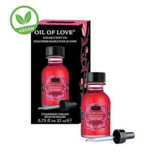 Возбуждающее масло-гель KamaSutra Oil of Love клубника, 22 мл