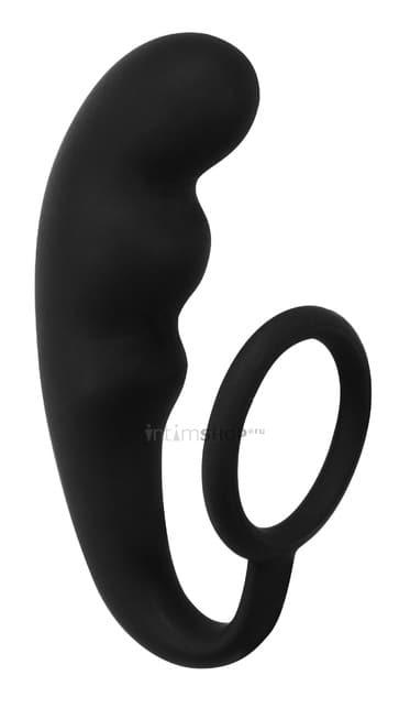 Анальный стимулятор с эрекционным кольцом Lola Toys Back Door, черный