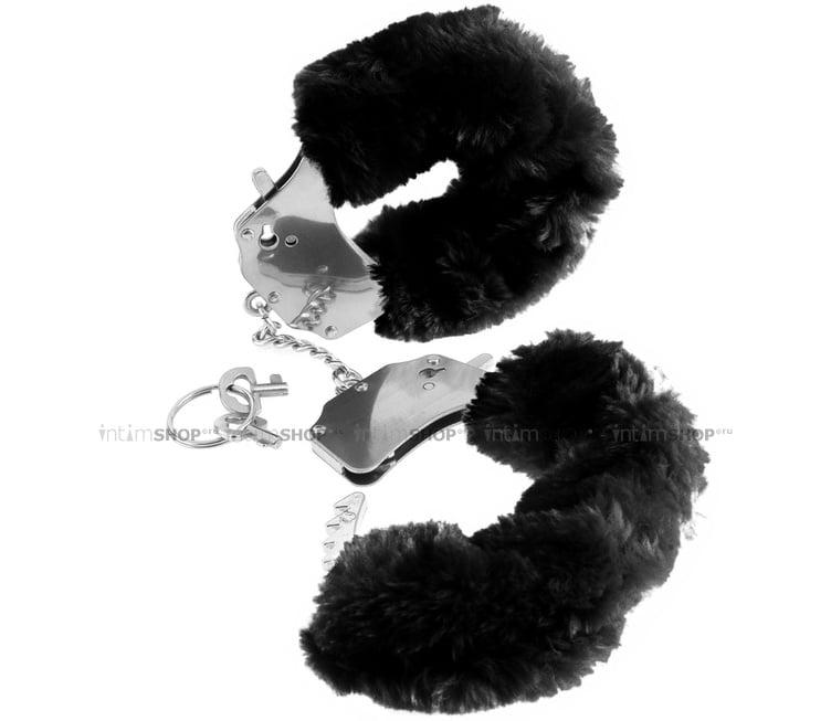 Наручники металлические Pipedream Furry Cuffs с мехом черные
