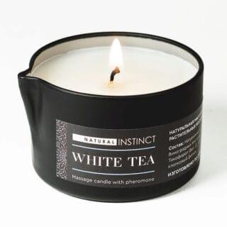 Массажная свеча Natural Instinct белый чай, 70 мл