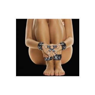 Крестообразные наручники (оковы, фиксаторы) для рук и ног Leather Hand And Legcuffs Ouch! Shots