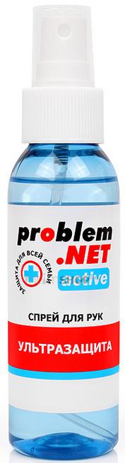 Обеззараживающий спрей для рук Problem.NET Active с высоким содержанием спирта 100 мл