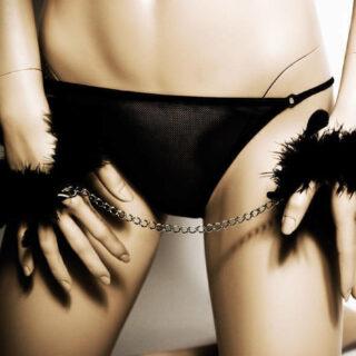 Перьевые наручники Bijoux Indiscrets Za Za Zu Feather Handcuffs