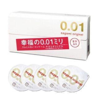 Презервативы Sagami Original 001 полиуретановые, 5 шт