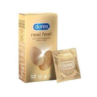 Презервативы Durex RealFeel гипоаллергенные из синтетического материала, 12 шт