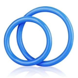 Силиконовые Кольца Silicone Cock Ring Set голубые