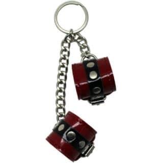 Сувенир-брелок наручники красные